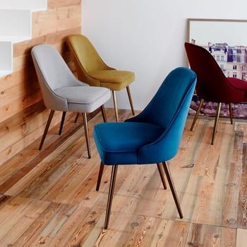 Estilo nórdico comedor moderno minimalista personalidad café silla ...