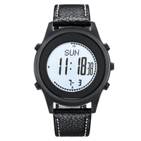 SPOVAN Beyond Carbon Fiber Sport Watches Ultra Thin Silica gel Watchband Black