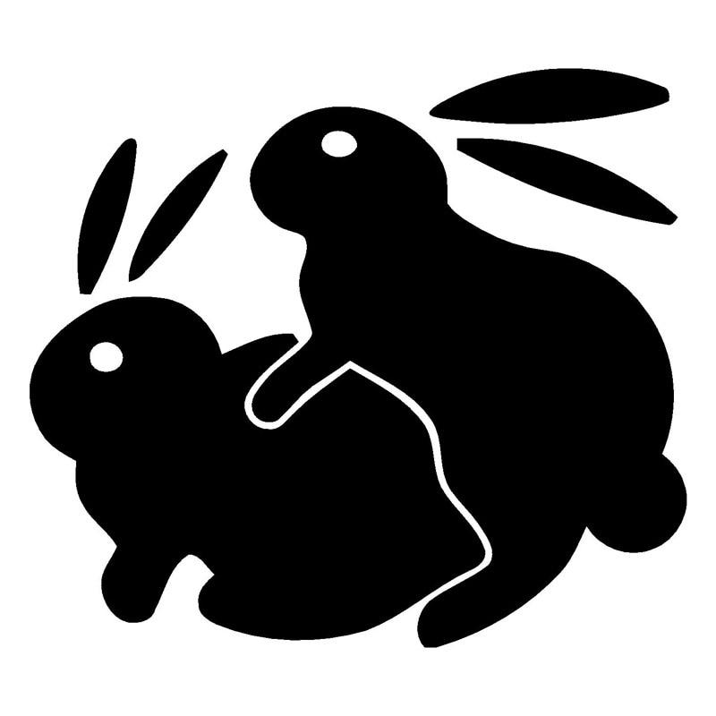 14*12.3 см Кролик Секс fansy стайлинга автомобилей Забавный автомобиля Стикеры и надписи Интимные аксессуары черный/серебристый c9-1773 ...