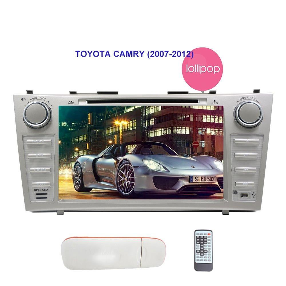 Car Stereo For TOYOTA CAMRY Capacitive Touch Screen DVD Player Autoradio Bluetooth USB SD 4G Dongle Headunit Android 5.1 4G Wifi