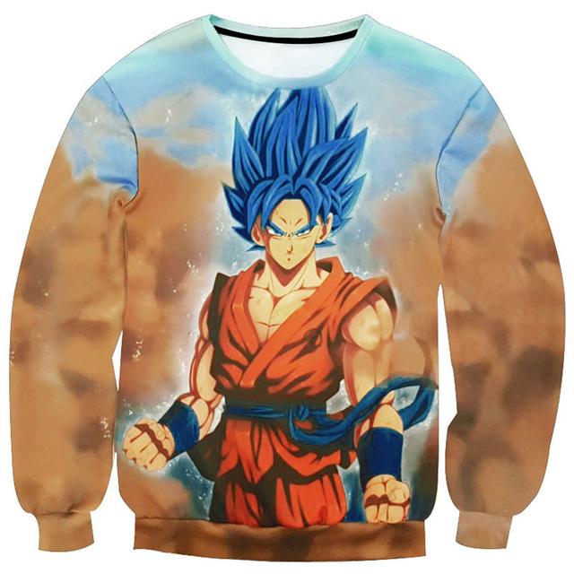Dragon Ball Z Hoodie Son Goku Winter Sweatshirt Pullovers