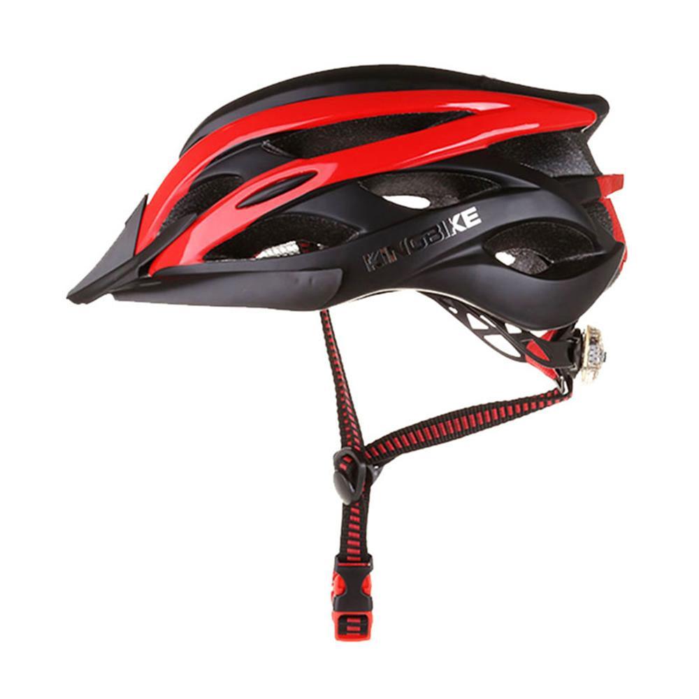 KING BIKE Portable Helmet Backpack Detachable Visor Safety Rear Led Light Cycle Helmets Sun Protection Accessories