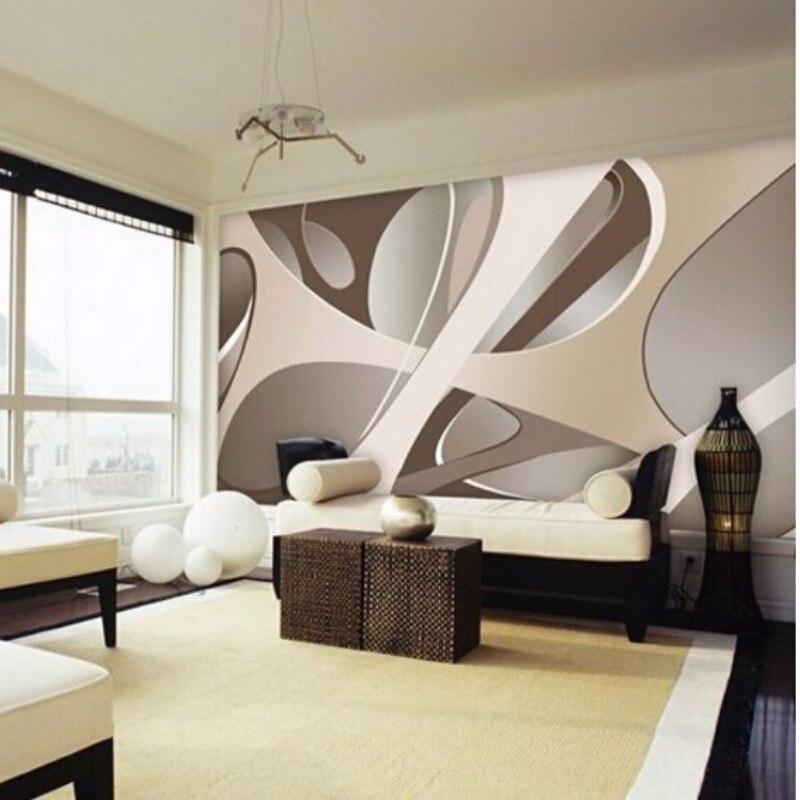 Beibehang 3d behang europese minimalistische slaapkamer woonkamer tv achtergrond behang strepen - Parato per camera da letto ...