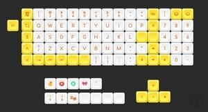 Image 2 - Kprepublic 黄色のアヒル染料 subbed dsa プロファイル桜プロファイル色素サブキーキャップ PBT ため xd75 am 再 planck preonic