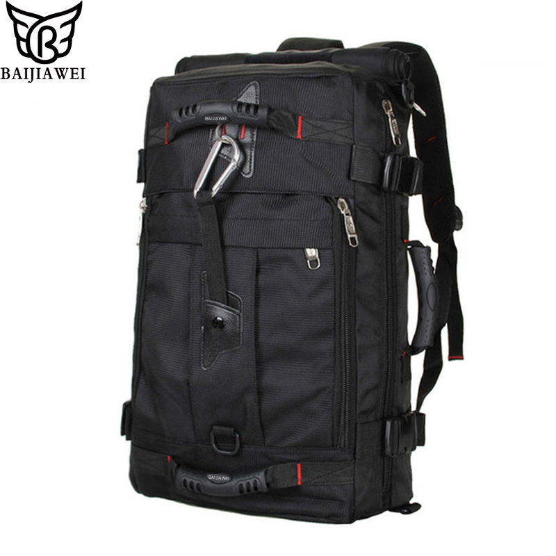 BAIJIAWEI Large Capacity Fashion Men Backpack Waterproof Travel Backpack Multifunctional Bags Male Laptop Backpacks mochila baijiawei men and women laptop backpack mochila masculina 15 inch backpacks luggage