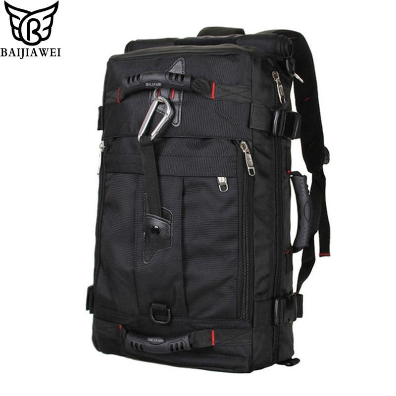 BAIJIAWEI Large Capacity Fashion Men Backpack Waterproof Travel Backpack Multifunctional Bags Male Laptop Backpacks mochila