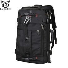 Baijiawei moda hombres mochila de gran capacidad mochila de viaje impermeable multifuncional bolsas mochilas mochila portátil masculina
