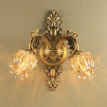 Bronze antigo Luzes de Parede Do Vintage de Ferro Forjado Arandelas de Parede da Sala de estar Quarto lâmpada de Cabeceira Lâmpada de Iluminação Da Lâmpada de Parede do corredor de Iluminação Arandelas e Luminárias