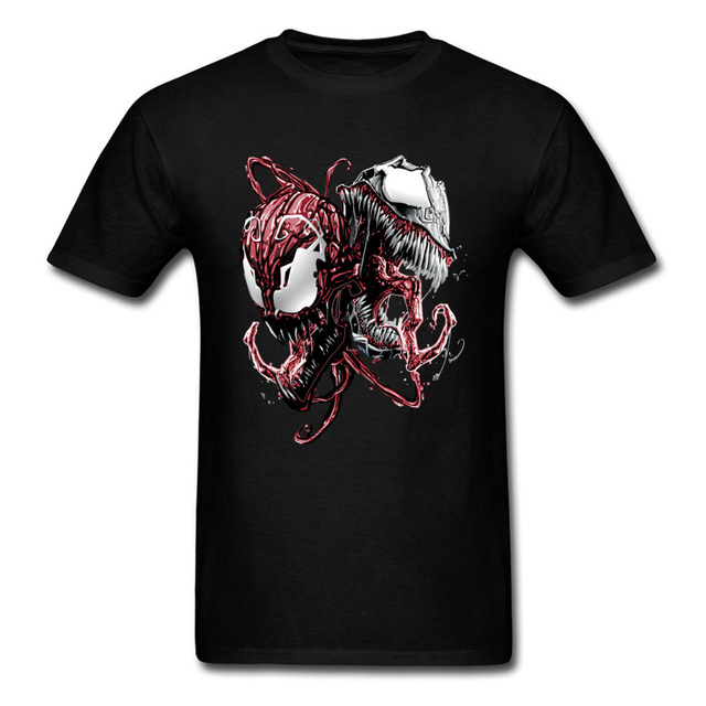 24750e6d73b1 Carnage Anti Venom T-Shirt Marvel Movie Spider-Man Cool Fashion Slim Fit  Tops