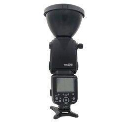 TRIOPO TR-180 gołe żarówki Bounce obrotowe auto flash Speedlite dla Nikon/Canon lustrzanka cyfrowa latarka oświetlenie fotograficzne