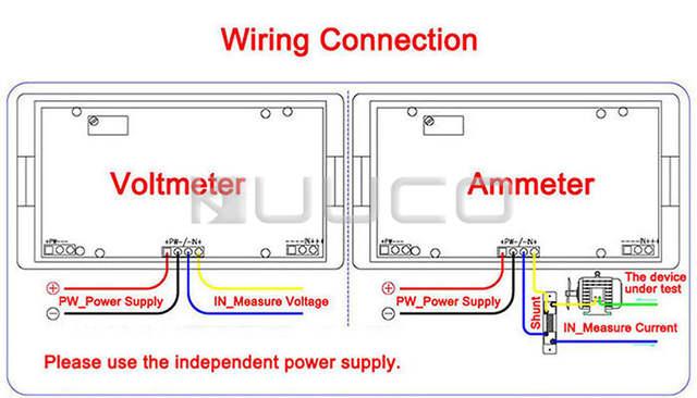 Online Shop Digital Meter Mini Current Meter AC 0 ~ 50A Blue LCD