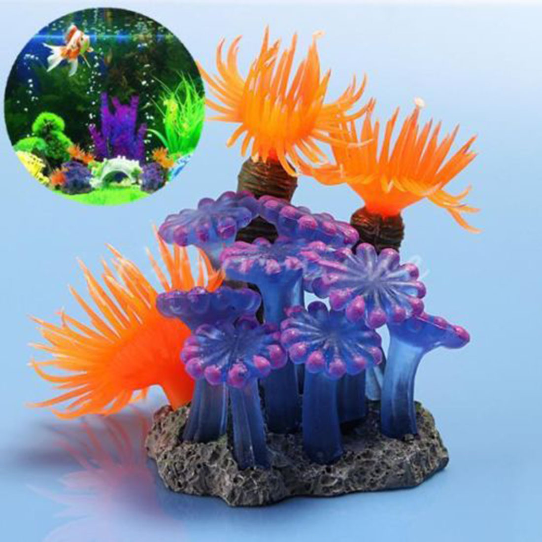 High Quality Artificial Resin Fish Tank Decor Underwater Underwater Coral Aquarium Multi-Color