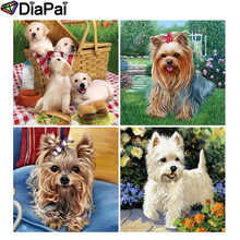 DIAPAI Diamond Painting 5D DIY Full Square/Round Drill Animal dog flower 3D Embroidery Cross Stitch Decor Gift