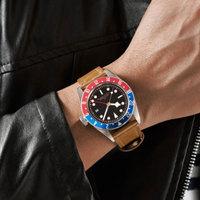 41 мм стерильные черный циферблат сапфир Стекло GMT световой синий и красный ободок Дата relogio masculino автоматический механизм Мужская часы