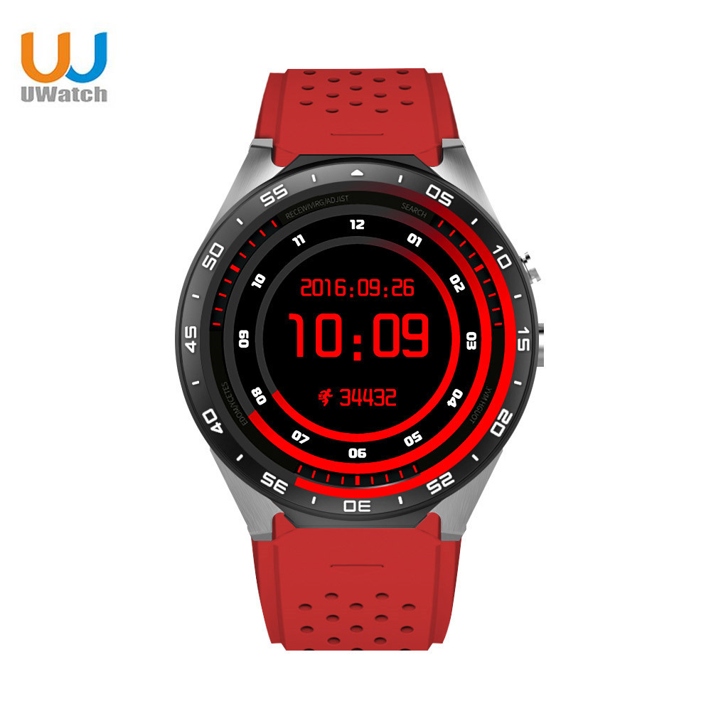 UWatch KW88 font b Smartwatch b font 3G WIFI GPS Bluetooth 4 0 Heart rate Monitor
