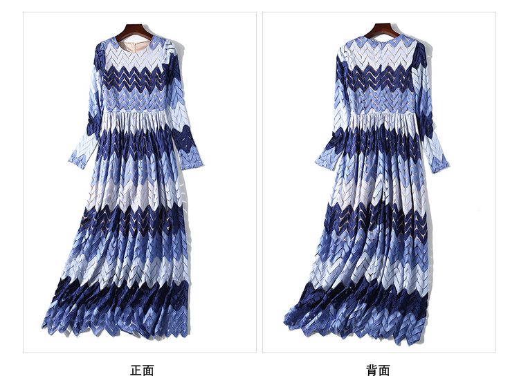 New Long Sleeve Fashion Lace Tri color Dress of 2019 Dress Women Vestidos Party Dresses Maxi Dresses Long Sleeve in Dresses from Women 39 s Clothing