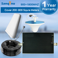 Sanqino Nova Chegada Do Telefone Móvel Repetidor de Sinal Amplificador Booster GSM 900 DCS 1800 mhz Dual Band Kits Completos Atacado