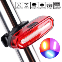 Ultra Bright USB Rechargeable Bicycle Flashing Rear Taillight LED Safety Warning Strobe Head Light Also For