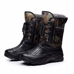 Армейские сапоги мужские зимние ботильоны теплые Водонепроницаемый меха тактические ботинки обувь Мужская обувь Дизайнерские Hombre HH-917