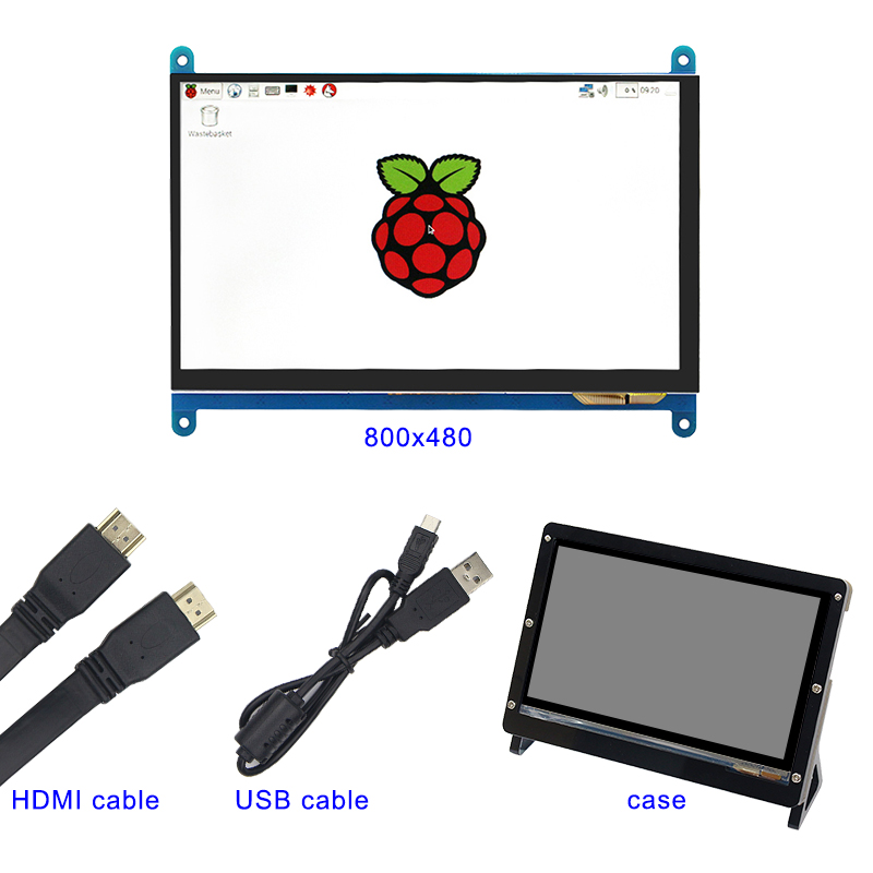 7 Inch 800*480 Raspberry Pi LCD TFT Display + Acrylic Bracket Case+ HDMI Cable+USB Cable for Raspberry Pi 3 Touch Screen finesource 7 1280 x 800 digital tft lcd screen driver board for banana pi raspberry pi black
