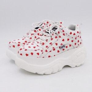 Image 2 - COMFABEA 2020 봄 여성 신발 플랫 플랫폼 스 니 커 즈 여성을위한 신발 레저 컴포트 숙 녀 신발 가을 여성 신발