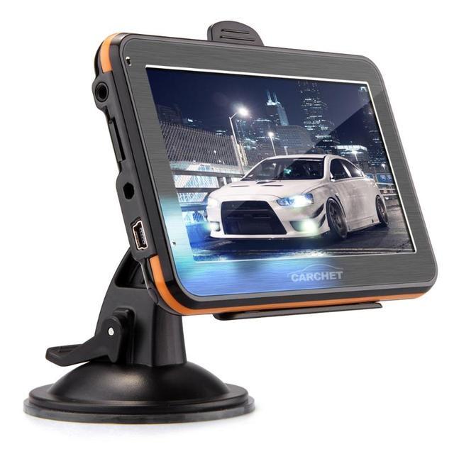 """Gps del navegador de coche 4.3 """" 480 x 272 Nav pantalla táctil de navegación GPS Navigator FM 4 GB Europe Map rusia Austria bielorrusia españa reino unido"""