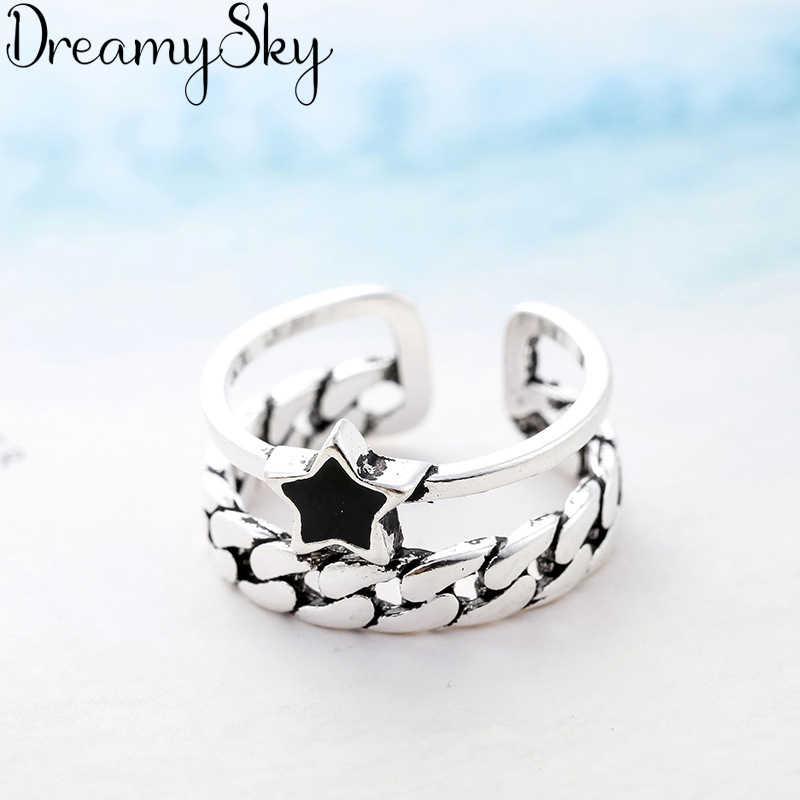 Bijoux винтажные кольца из стерлингового серебра 925 пробы для девушек, женские регулируемые размеры, модное кольцо, ювелирные изделия для свадебной вечеринки, Anillos