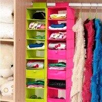 9-Shelf Clothes Closet Washable Organizer Hanging Accessory Shoe Collection Organizer Shelves Vacuum Bag Box Organizadores