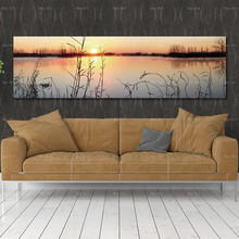 canvas painting wall picture art prints Sunset landscape Poster Paintings for Living Room No Frame