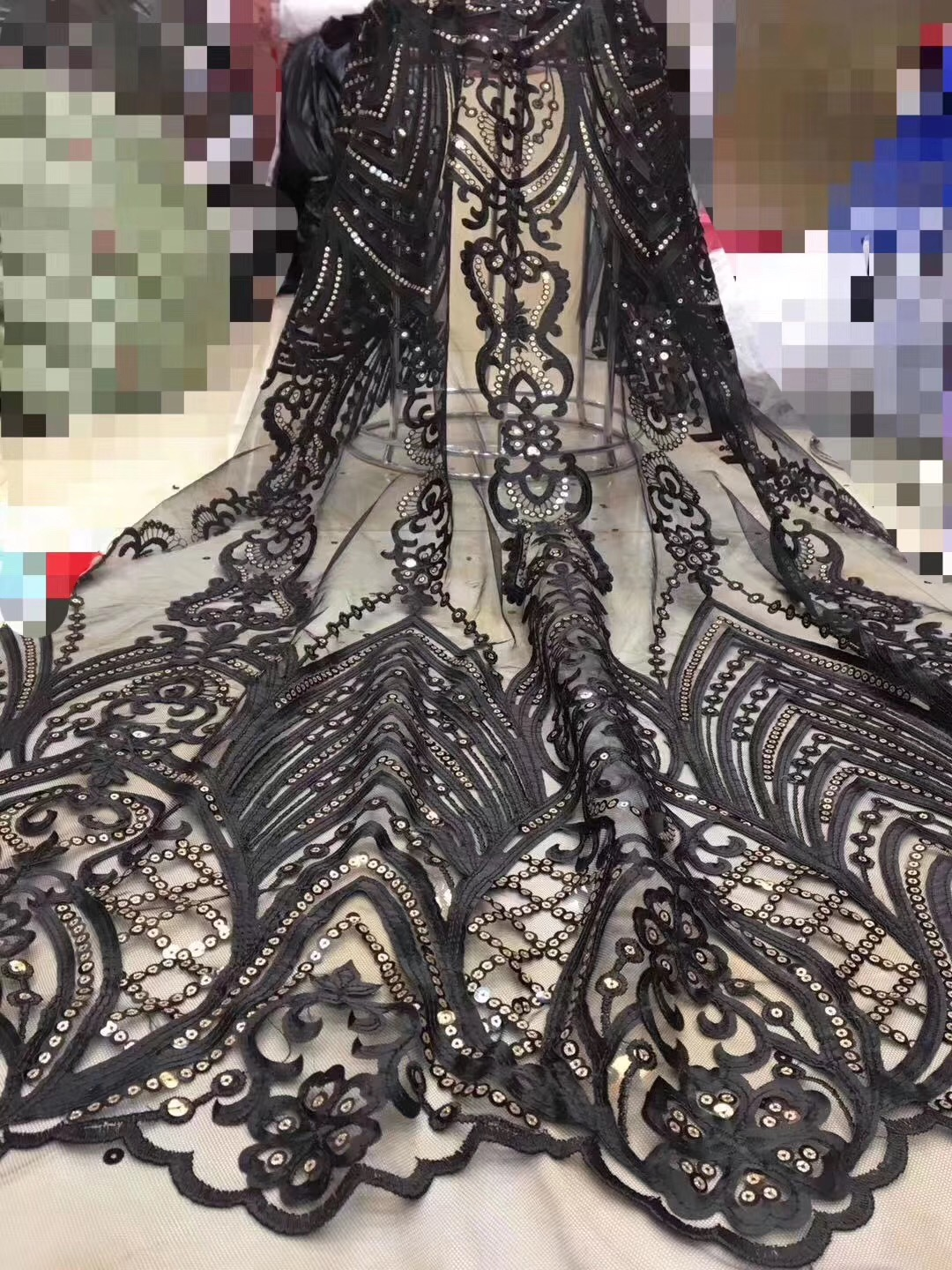 Beautifical french lace fabrics 2019 popular exquisite nigerian lace fabric for dress net lace french sequins fabric ML1N806Beautifical french lace fabrics 2019 popular exquisite nigerian lace fabric for dress net lace french sequins fabric ML1N806