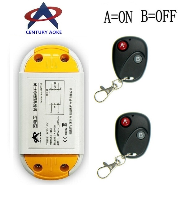 AC 220V 110V 240V 85V 10A Relay Receiver Transmitter Light Lamp LED Remote Control Switch Power Wireless ON OFF Key Switch 220v ac 10a relay receiver transmitter light lamp led remote control switch power wireless on off key switch lock unlock 315433