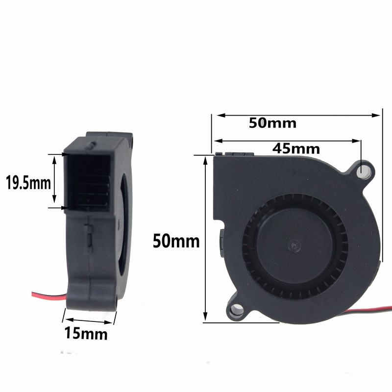 Gdstime 1 Piece DC 24V 50mm x 15mm 2Pin Centrifugal Blower Fan PC Cooling Turbo Cooler 5cm 50x15mm 5015 gdstime 10 pcs dc 12v 14025 pc case cooling fan 140mm x 25mm 14cm 2 wire 2pin connector computer 140x140x25mm