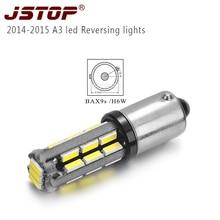 Jstop 2014-2015 A3 светодиодные автомобиля задние фары 12vac Внешнее освещение лампы светодиодные BAX9S H6W 12 В canbus светодиодные лампы лампы заднего хода автомобиля