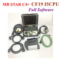 2019 05 Top Quality Mb Star SD C4 with Software V ediamO+D T S MB Star Diagnosis Multiplexer with Toughbook CF19 Notebook i5 CPU