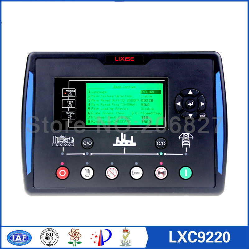 Generator controller LXC9220 Completely replaced dse7220 amf ats control panel for diesel generator atlantic 50756 41 41