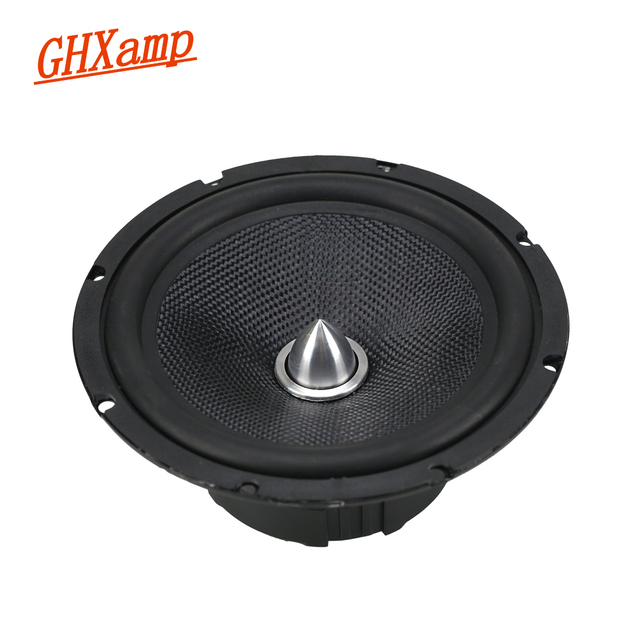 GHXAMP 6,5 pulgadas 40W Bullet Gama Completa CD de coche altavoz Woofer vidrio Fber baja frecuencia larga trazo HIFI Home Theater altavoz 4OHM