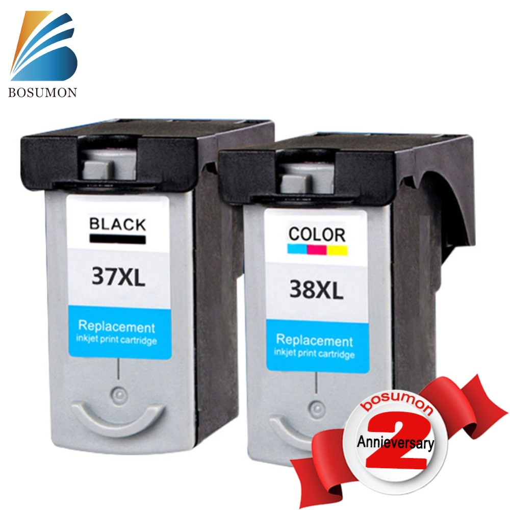 For Canon PG37 CL38 PG-37 CL-38 Ink Cartridges PG 37 CL 38 compatible IP 1800/1900/2500/2580/2600 MP140/160/190/210/220printer cl 38 ink cartridge for canon cl38 pixma mp140 mp190 mp210 mp220 mp470 mx300 mx310 ip1800 ip1900 ip2500 ip2600