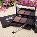 3 Colores Desnuda Sombra de Ojos Profesional Paleta de Maquillaje de Cejas Sombra de Ojos En Polvo, Incluye Cepillo Y Espejo de Maquillaje Fácil de Usar