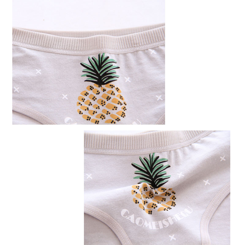Panties for women cotton Pineapple Women's Mid-Waist underwear sexy lingerie girl briefs female underpants Breathable briefs