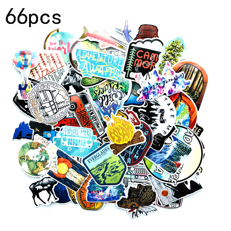 Decal Sticker Laptop-Motor Car Adventure Waterproof Outdoor Camping Landscape Wilderness