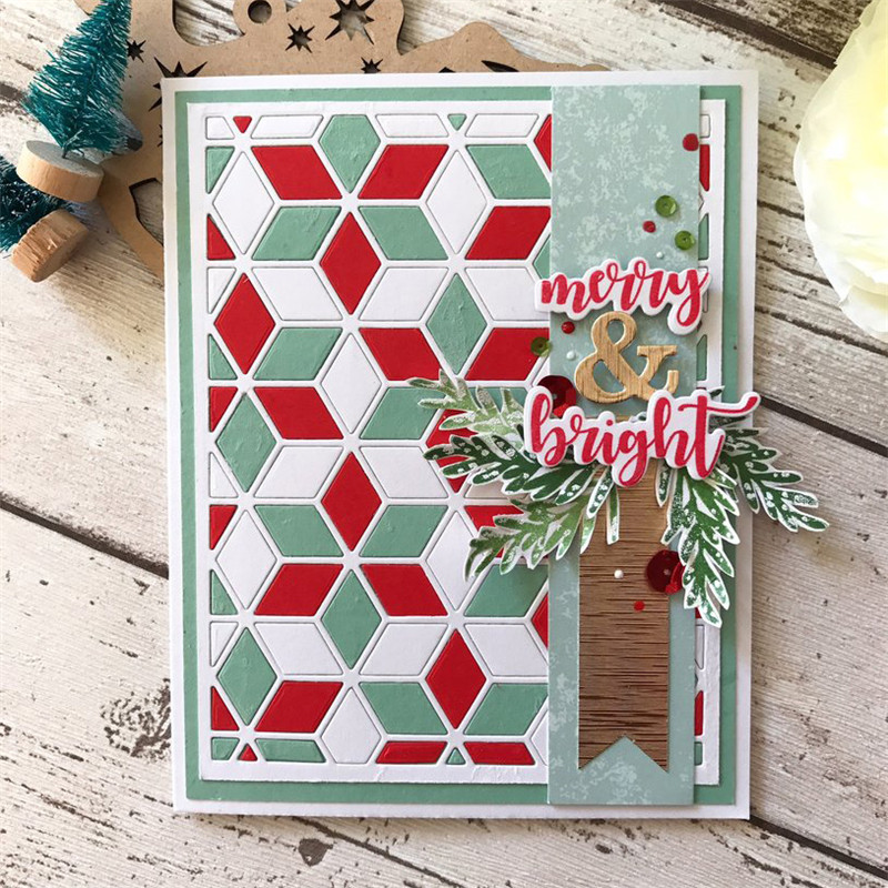 Naifumodo Hexagon Hollow Metal Cutting Dies Scrapbooking Background Polygon Frame for Craft Stencils Album Embossing Dies Cuts in Cutting Dies from Home Garden
