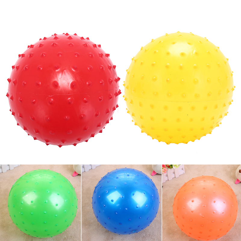 1pcs 22cm Bouncing Balls Funny Inflatable Ball Kids Baby Massage Ball Rubber Ball Beach Game Toys Balloons Randomly ...