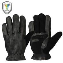 OZERO Black Motorcycle Gloves Summer Leather Genuine Goatskin Motocross Motorbike Biker Racing Riding Motor Moto Men 5018