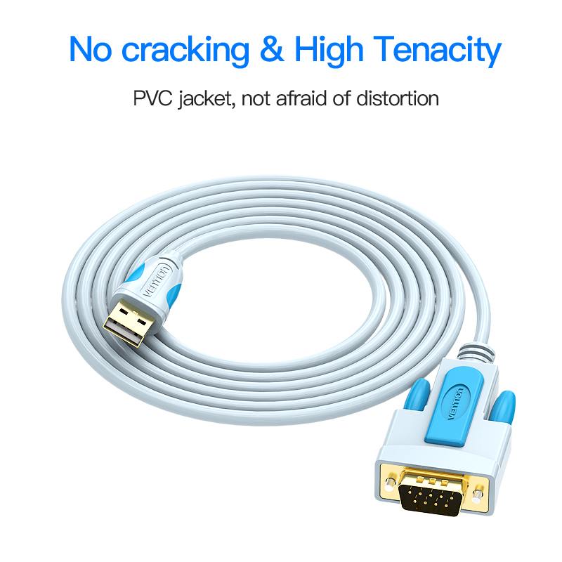 Vention New USB 2.0 to RS232 Serial Cable 3m 2m 1.5m 1m 9Pin DB9 ...