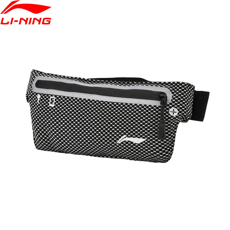 Li-Ning Unisex Running Wrist Bags Waterproof Reflective 27*11 Cm Zipper Closure Li Ning LiNing Sports Pockets Bag ABLN036 BJF137