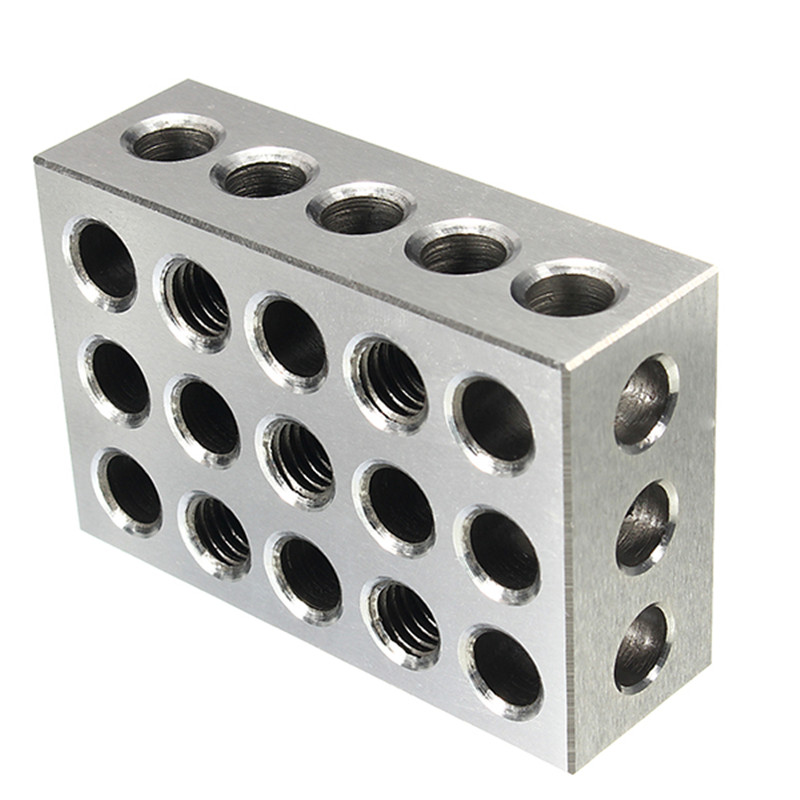 2pcs Hardened Steel Blocks 23 Holes Parallel Clamping Block Milling Tool Precision 0.005mm  25x50x75mm2pcs Hardened Steel Blocks 23 Holes Parallel Clamping Block Milling Tool Precision 0.005mm  25x50x75mm
