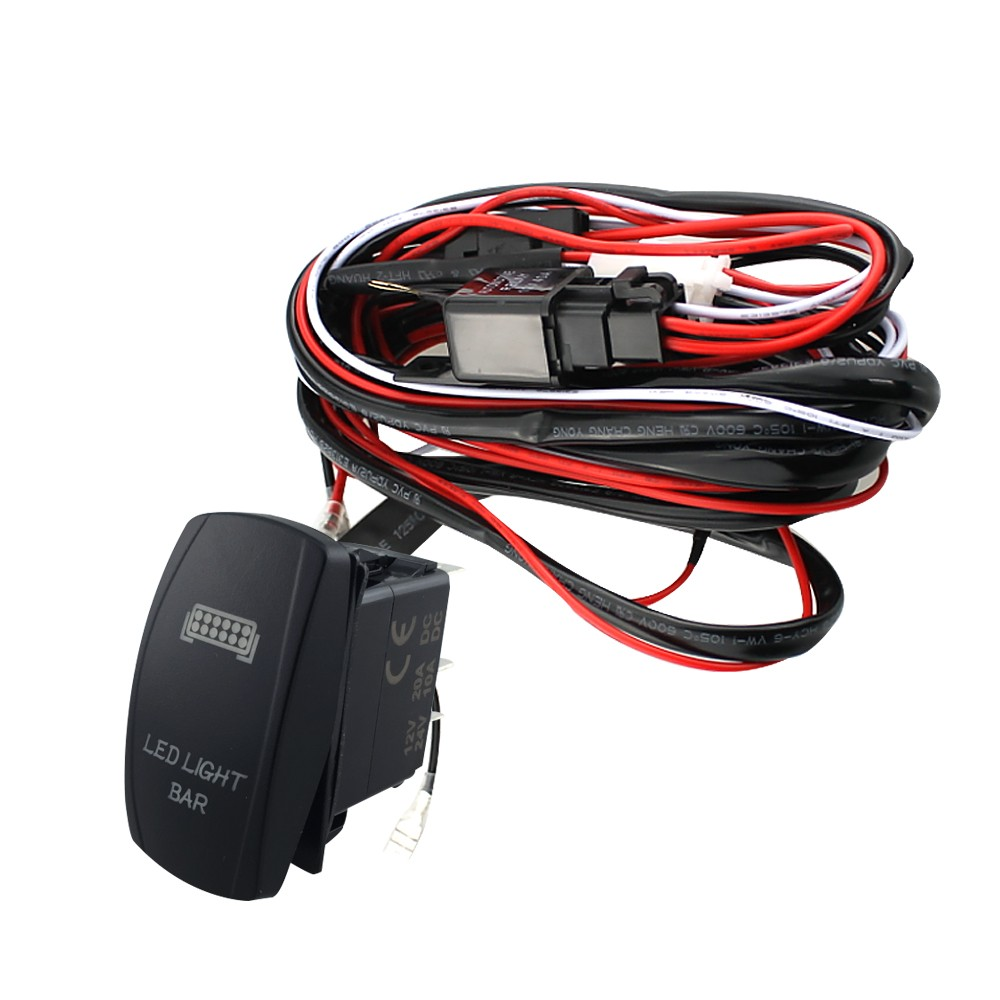 12v Led Light Bar Laser Rocker On Off Switch Wiring Harness 40a Gt Circuits Traffic Lights For Games With Wattagemax 300w Colour Black Relay Dc 20a 24v 10a Ce Approved Red Pin Number 5 Fuse 30a