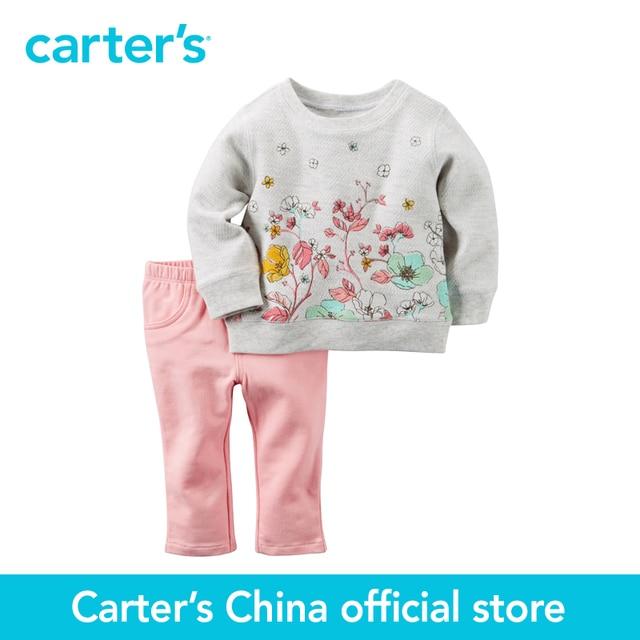 Картера 2 шт. детские дети дети Терри Лучших и Брюки Набор 127G233, продавец картера Китай официальный магазин