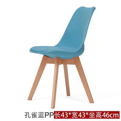 Простой современный домашний стул для столовой задний офисный стул креативный твердый деревянный Северный стул - Цвет: 1