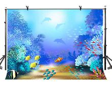 7x5ft Ocean World Backdrop Beautiful and Lovely Underwater Photography Background Studio Props